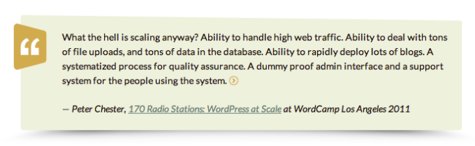 Quote post format in WordPress