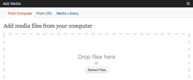 WordPress 3.3 Drop Files Here