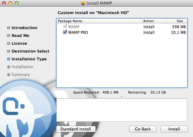 Installing MAMP