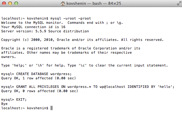 MySQL Terminal