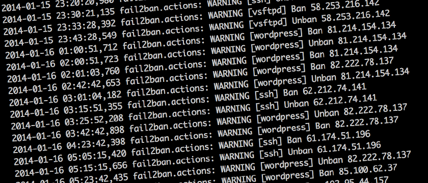 Fail2ban with WordPress and Nginx